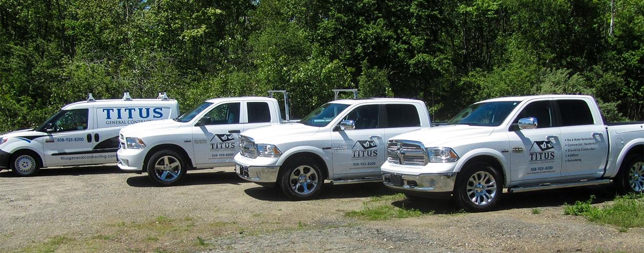 Titus General Contracting Trucks